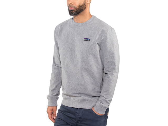 Patagonia P-6 Label Uprisal Sweat-shirt manches longues à col ras-du-cou Homme, gravel heather
